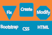 fix any html,css, jquery issues within 12 hours