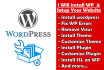 install and setup your wordpress website