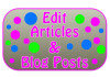 look over and edit any article or blog post for you