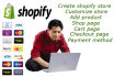create shopify store and add product