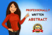 write an Abstract for your Academic Paper