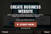 create professional business website for you