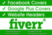 attractive facebook COVER and website headers