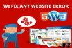 fix wordpress error and css issue