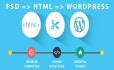 convert psd to html, Wordpress