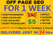 do off page SEO for 1 week in 24 hrs