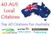 create Top 40 Australian local citations