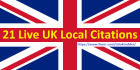 do 21 Live UK Local Citations to boost your buisness