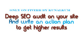 share SEO action plan to increase Google Ranking