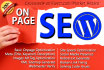 do Google Onpage SEO for First Page Ranking