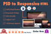 convert psd,png,jpg to Responsive Html5 Css3 using Bootstrap