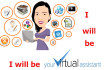 work as your professional virtual assistant for 5usd