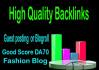 make you a DA 71 permanent Blogpost or Blogroll Fashion