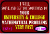 solve your mathematical problems and get you authentic answers
