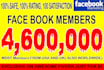 promote your link 4,600,000 real FACEBOOK members