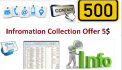 collect 200 contact information of any Category for you