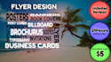 design an attractive poster, flyer, brochure, banner or all