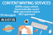 write top quality content for you, up to 300 words