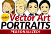 turn your portrait into a cute vector art