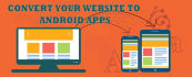 convert your website into a new android app and upload it