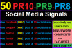 create manually 50 High quality social signals and comments