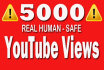 do 5000 youtube views all Real