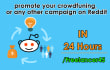 promote your crowdfuning, or any other campaign on Reddit