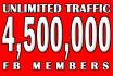 drive Unlimited Web Traffic,visitors via Social Members