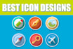 design a flat icon for your web mobile app
