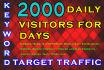 provide unlimited keyword targeted,website,traffic, real,visitors