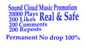 sound cloud 20000 plays 200 likes comments and reposts