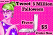tweet your website or anything to 6million twitter followers for social traffic