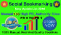 do 100 Manual Social Bookmarking Submissions PR 9 to 1