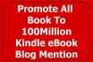 promote all books, kindle or ebook