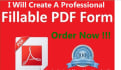make fillable pdf from word files