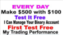 trade binary for you and make 5 times Extra Profits