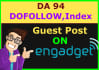 guarantee Dofollow Engadget guest post