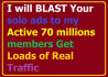 promote your website,solo ads, mlm,ebay, product and Ebook