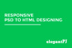 convert psd to HTML with Responsive and Pixel Perfect