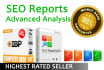 create actionable SEO report for high Google Rank