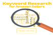 do advance keyword research for your Amazon product