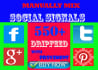create 550 PR9 manual social signals with Drip fed