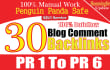 do 30 high pr niche blog comment links