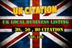 do 80 live citation for local UK business