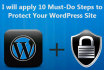 apply 10 Must Do Steps to Secure Your WordPress Site