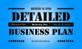 write a DETAILED business plan