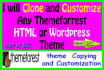 clone and Customize any themeforrest HTML and Wordpress Theme
