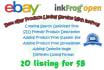add 20 product into eBay Store Using inkFrog