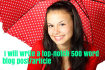 write an exceptional 500 word SEO article or blog post