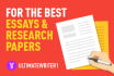 exhaustively research and write your academic assignments